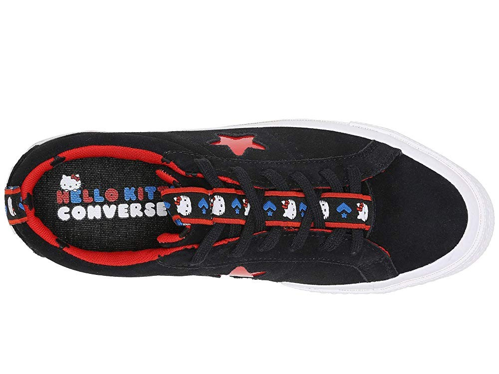 Black Friday Converse Hello Kitty® One Star Ox Black/Fiery Red Sale