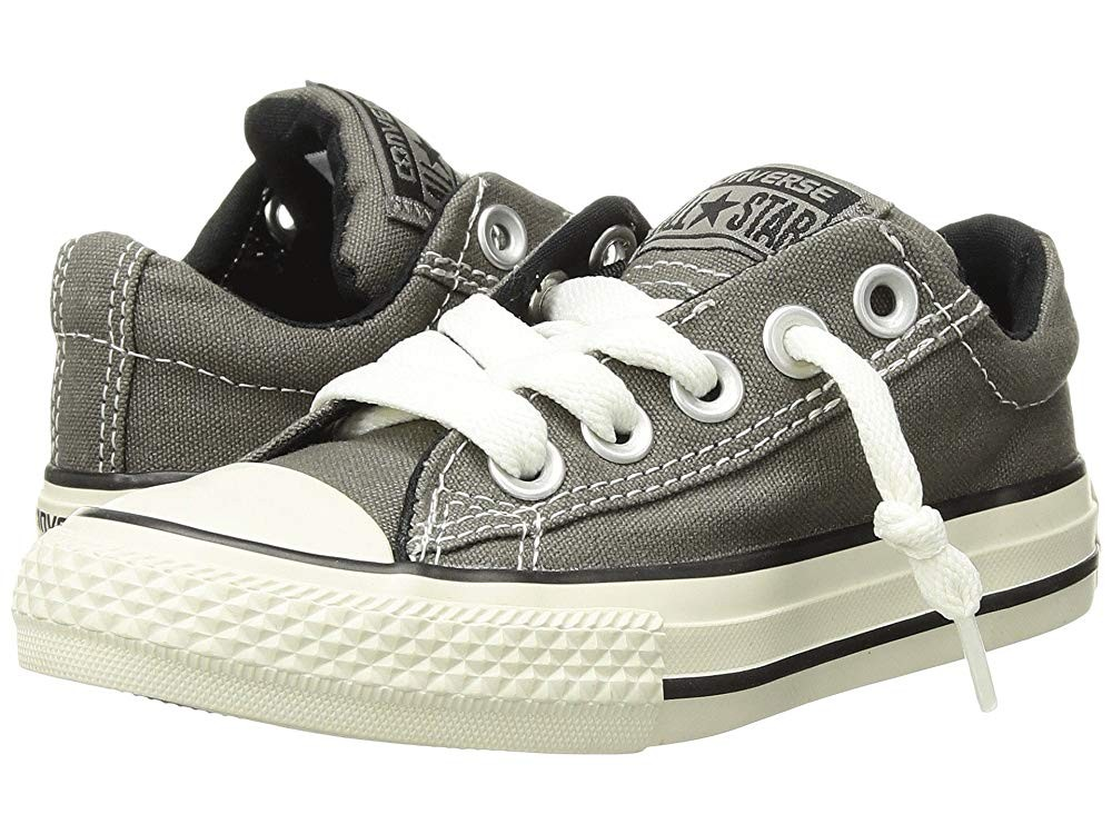 Christmas Deals 2019 - Converse Kids Chuck Taylor® All Star® Street Ox (Little Kid/Big Kid) Charcoal