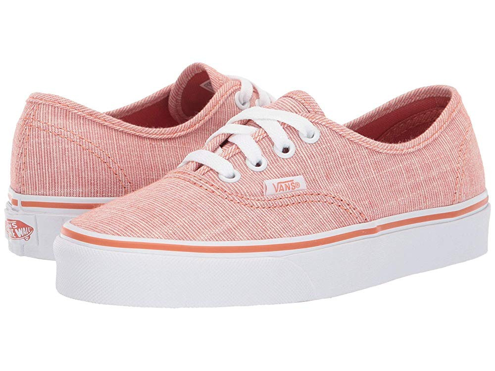 [ Hot Deals ] Vans Authentic™ (Chambray) Carnelian/True White