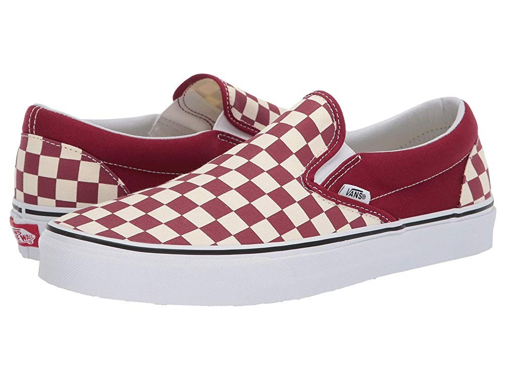 [ Black Friday 2019 ] Vans Classic Slip-On™ (Checkerboard) Rumba Red/True White