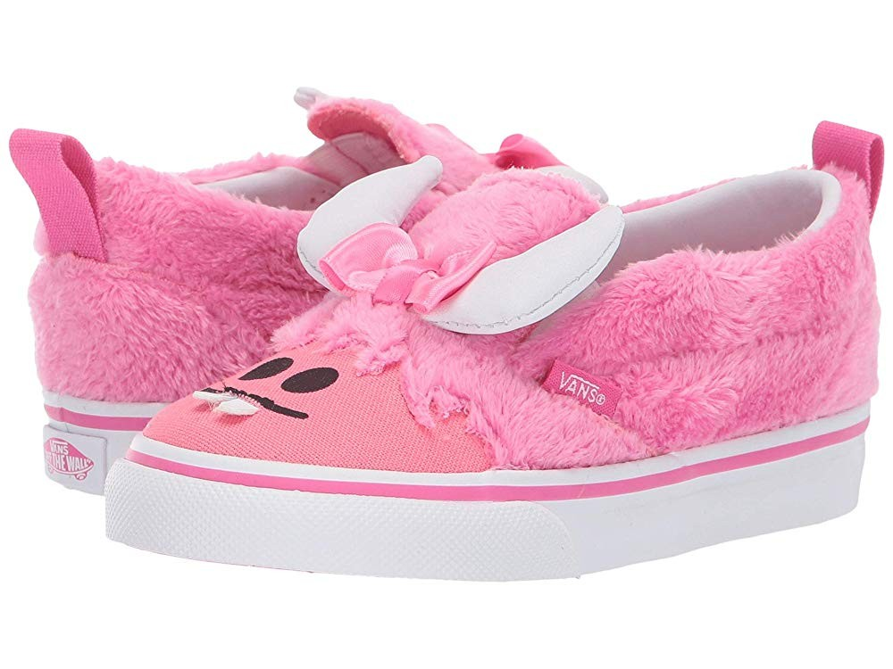 Vans Kids Slip-On V (Toddler) (Little Monsters) Carmine Rose/Strawberry Pink Black Friday Sale