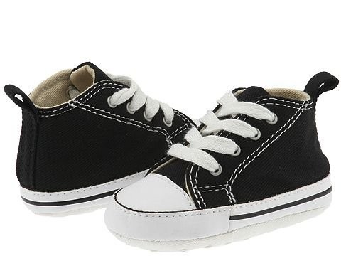 [ Hot Deals ] Converse Kids Chuck Taylor® First Star Core Crib (Infant/Toddler) Black/White