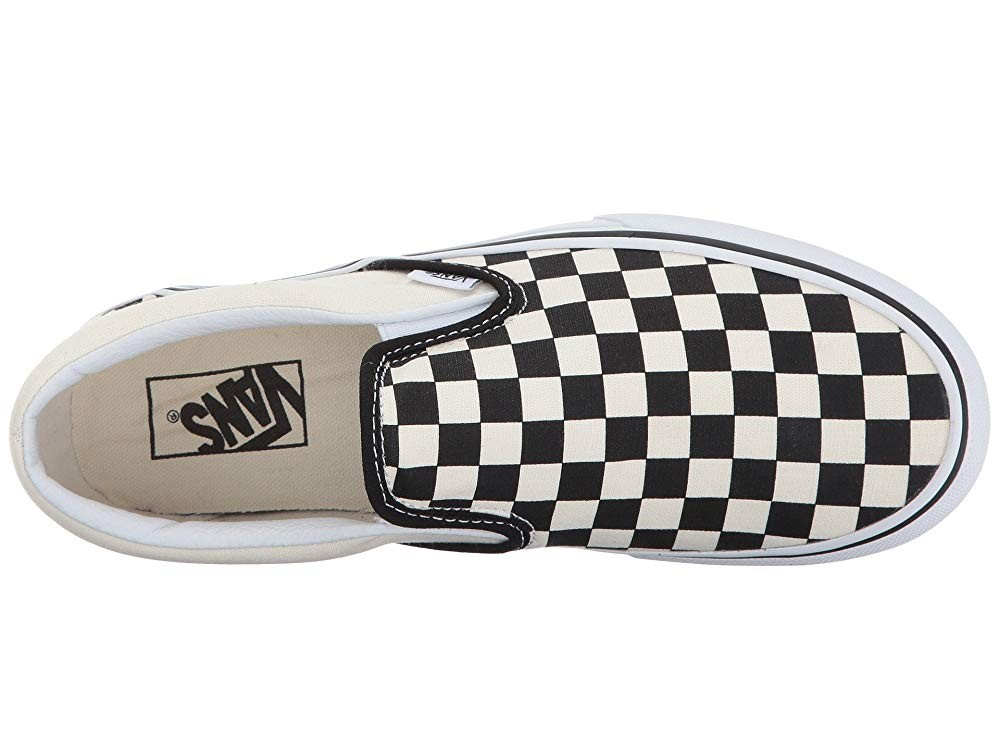 [ Hot Deals ] Vans Classic Slip-On Platform Black and White Checker/White