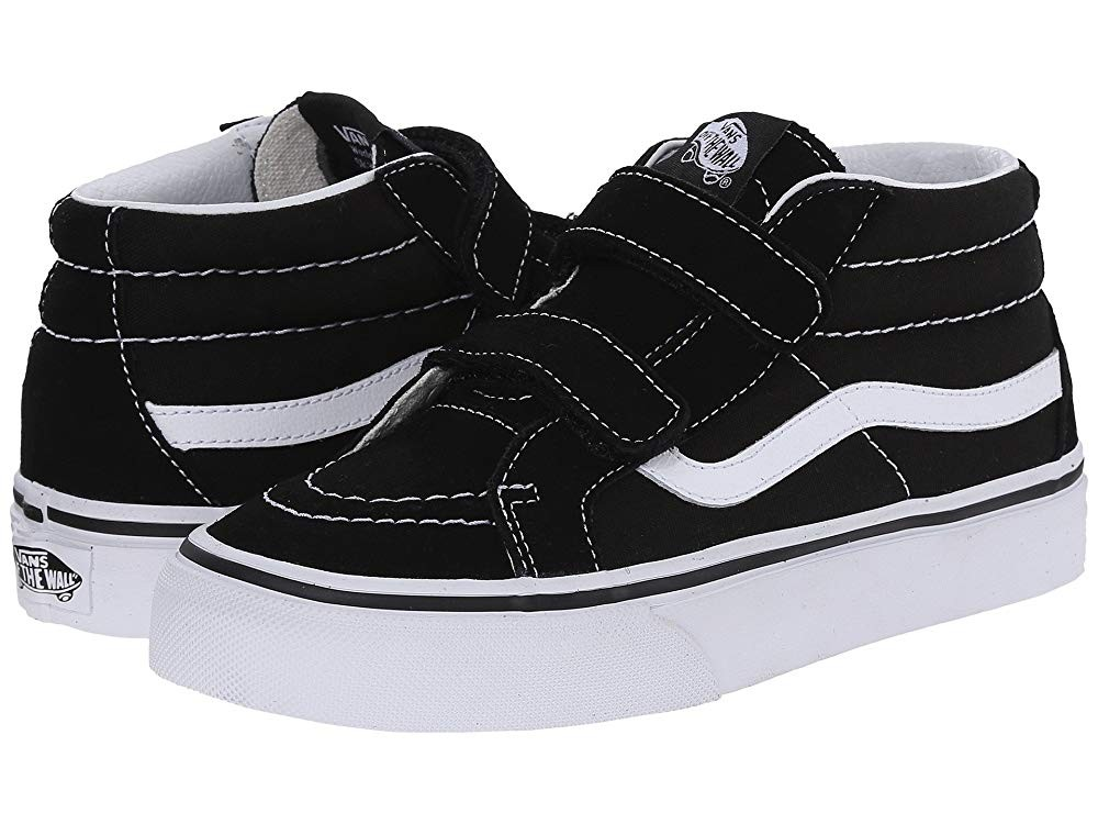 Vans Kids SK8-Mid Reissue V (Little Kid/Big Kid) Black/True White Black Friday Sale