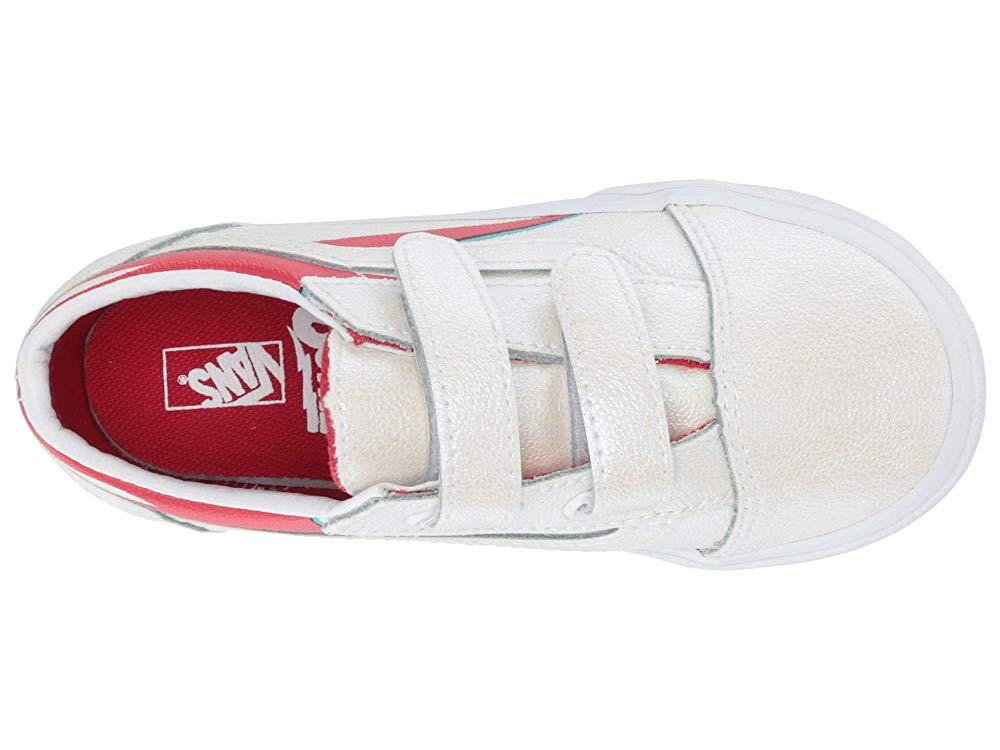 Vans Kids Vans x David Bowie Sneaker Collab (Infant/Toddler) (Old Skool V) Aladdin Sane/True White Black Friday Sale
