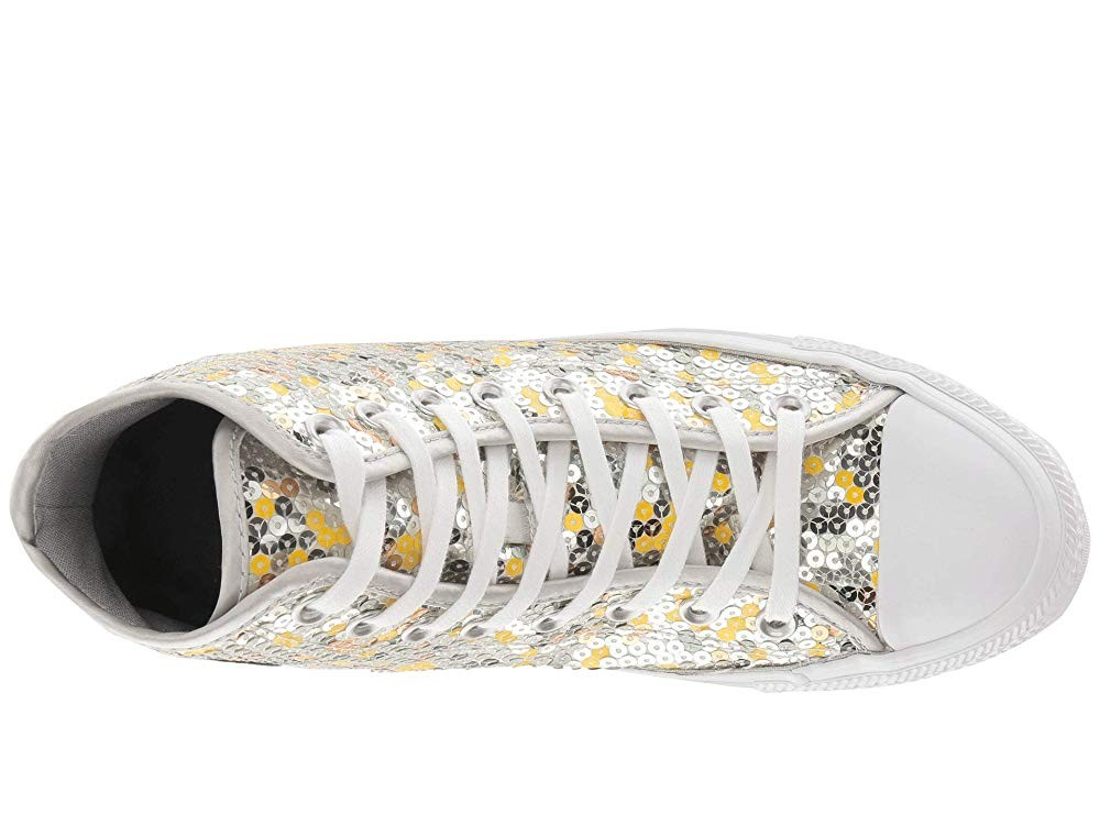 Black Friday Converse Chuck Taylor All Star Sequined - Hi Pure Silver/Gold/White Sale