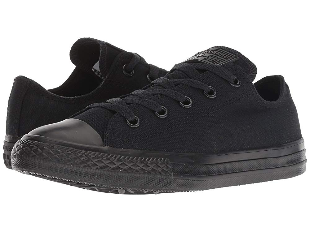 Black Friday Converse Kids Chuck Taylor® All Star® Core Ox (Little Kid) Black Monochrome Sale
