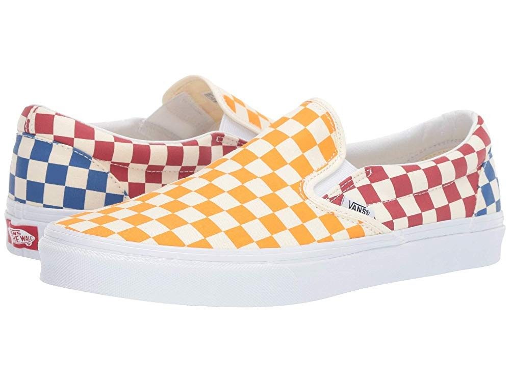 [ Hot Deals ] Vans Classic Slip-On™ (Checkerboard) Multi/True White