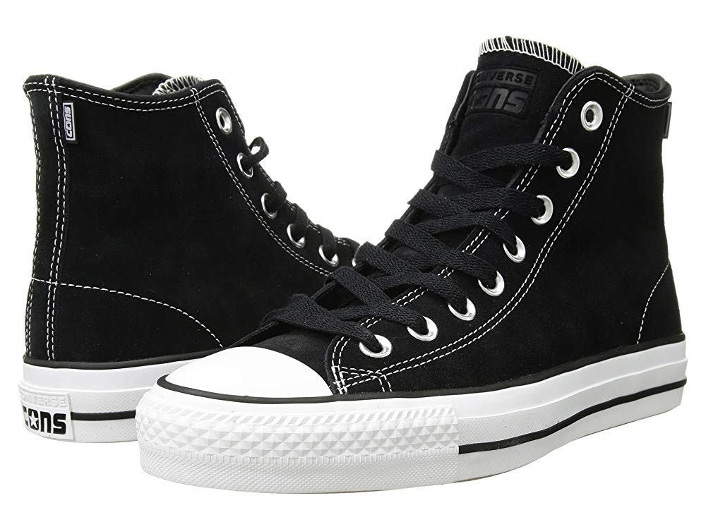 [ Hot Deals ] Converse Skate CTAS Pro Hi Skate Black/Black/White 2