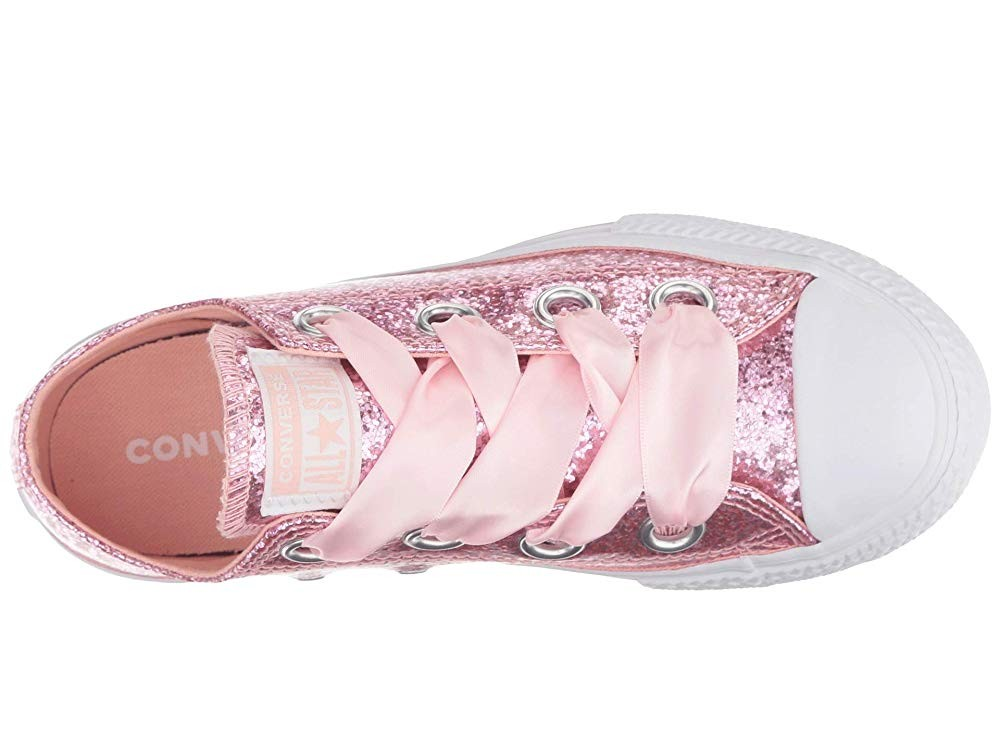 [ Hot Deals ] Converse Kids Chuck Taylor(r) All Star(r) Big Eyelets - Ox (Little Kid/Big Kid) Storm Pink/White/White
