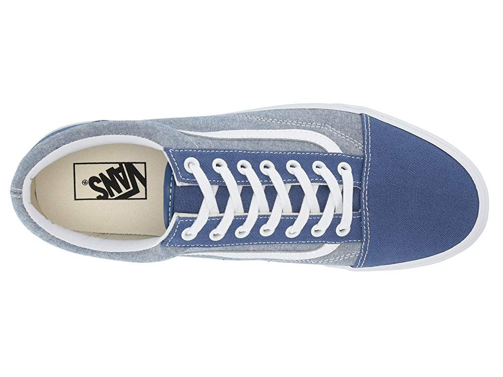 [ Hot Deals ] Vans Old Skool™ (Chambray) Canvas True Navy/True White