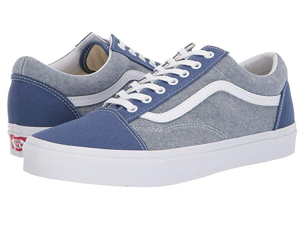 [ Black Friday 2019 ] Vans Old Skool™ (Chambray) Canvas True Navy/True White