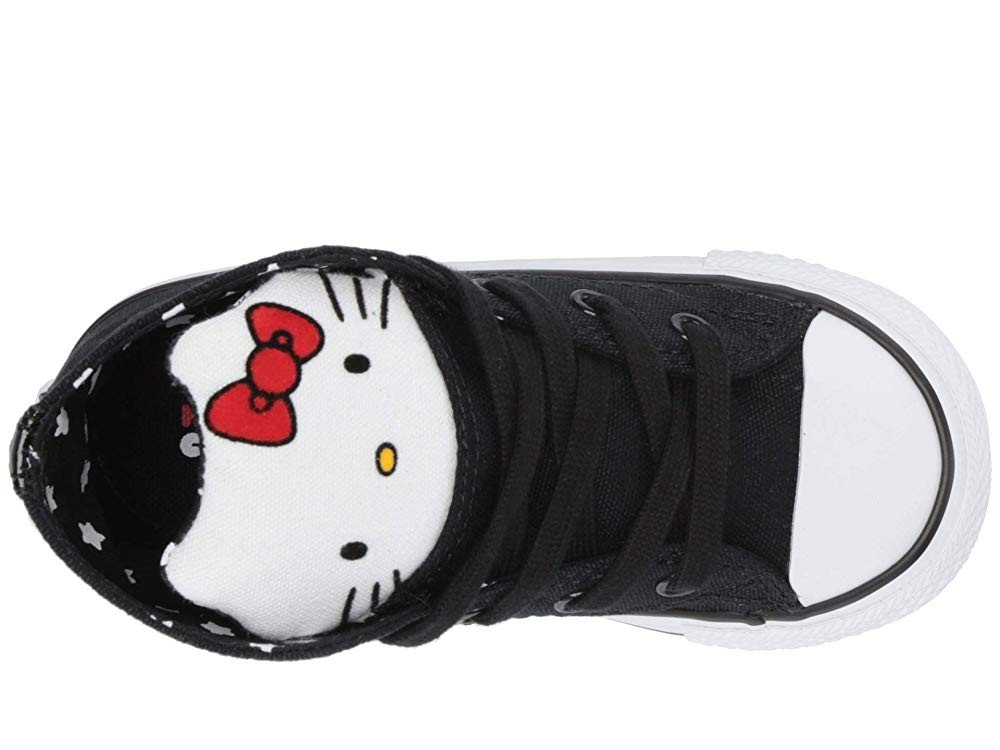 Black Friday Converse Kids Hello Kitty® Chuck Taylor® All Star® Hi (Infant/Toddler) Black/Fiery Red/White Sale
