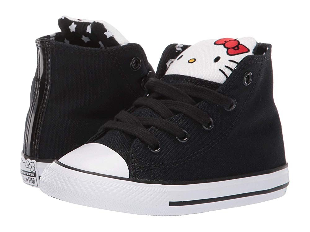 Christmas Deals 2019 - Converse Kids Hello Kitty® Chuck Taylor® All Star® Hi (Infant/Toddler) Black/Fiery Red/White
