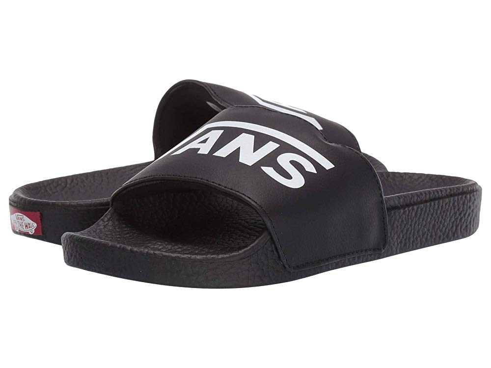Christmas Deals 2019 - Vans Kids Slide-On (Little Kid/Big Kid) (Vans) Black
