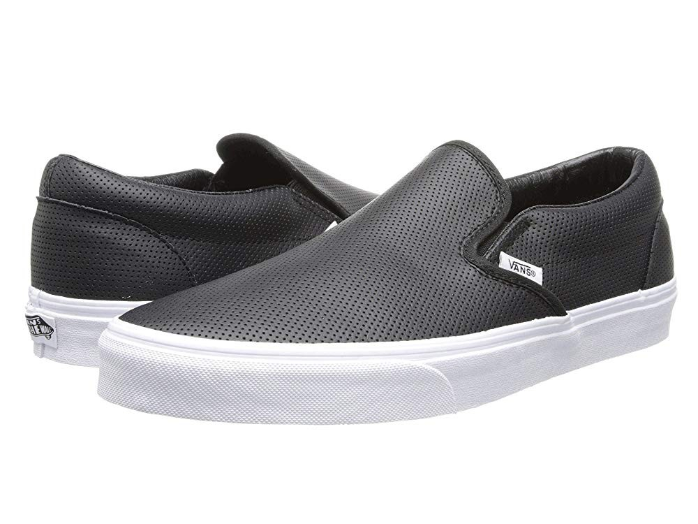 Vans Classic Slip-On™ Core Classics (Perf Leather) Black Black Friday Sale