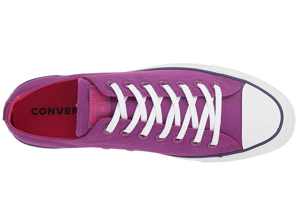 [ Hot Deals ] Converse Chuck Taylor All Star Seasonal Ox Icon Violet/Pink Pop/White