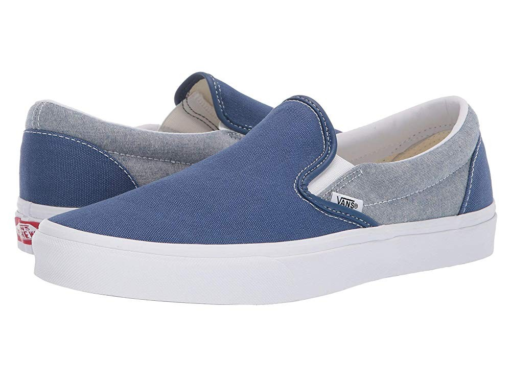 Christmas Deals 2019 - Vans Classic Slip-On™ (Chambray) Canvas True Navy/True White