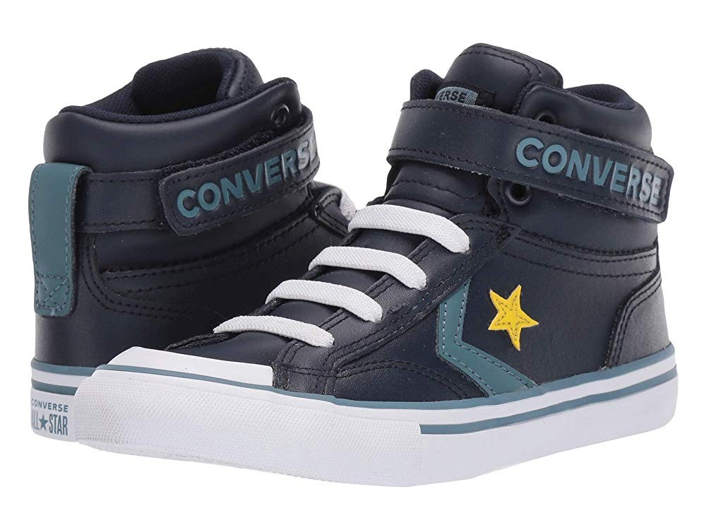 Converse Kids Pro Blaze Strap Leather Suede High Top Sneaker