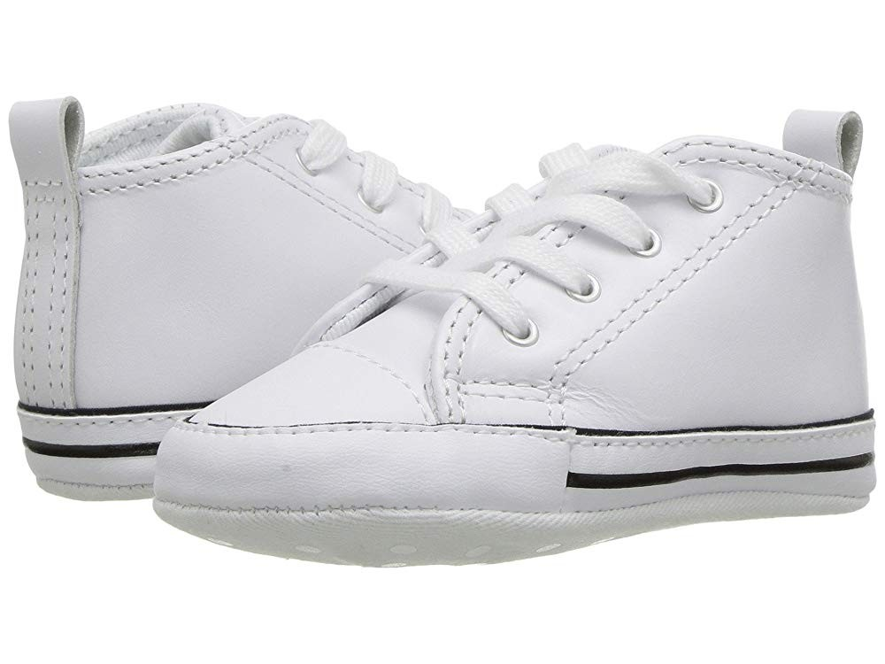 Converse Kids Chuck Taylor® First Star Core Crib (Infant/Toddler) White Leather