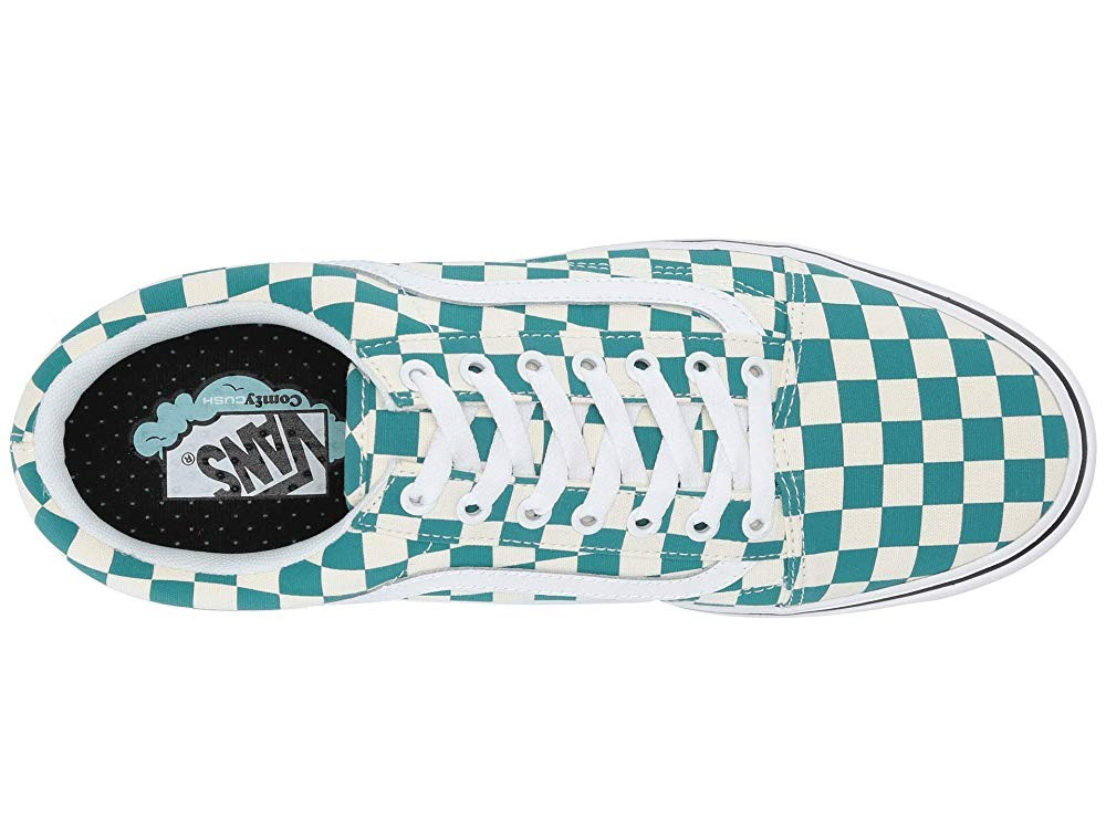 [ Hot Deals ] Vans Comfycush Old Skool (Checker) Quetzal/True White