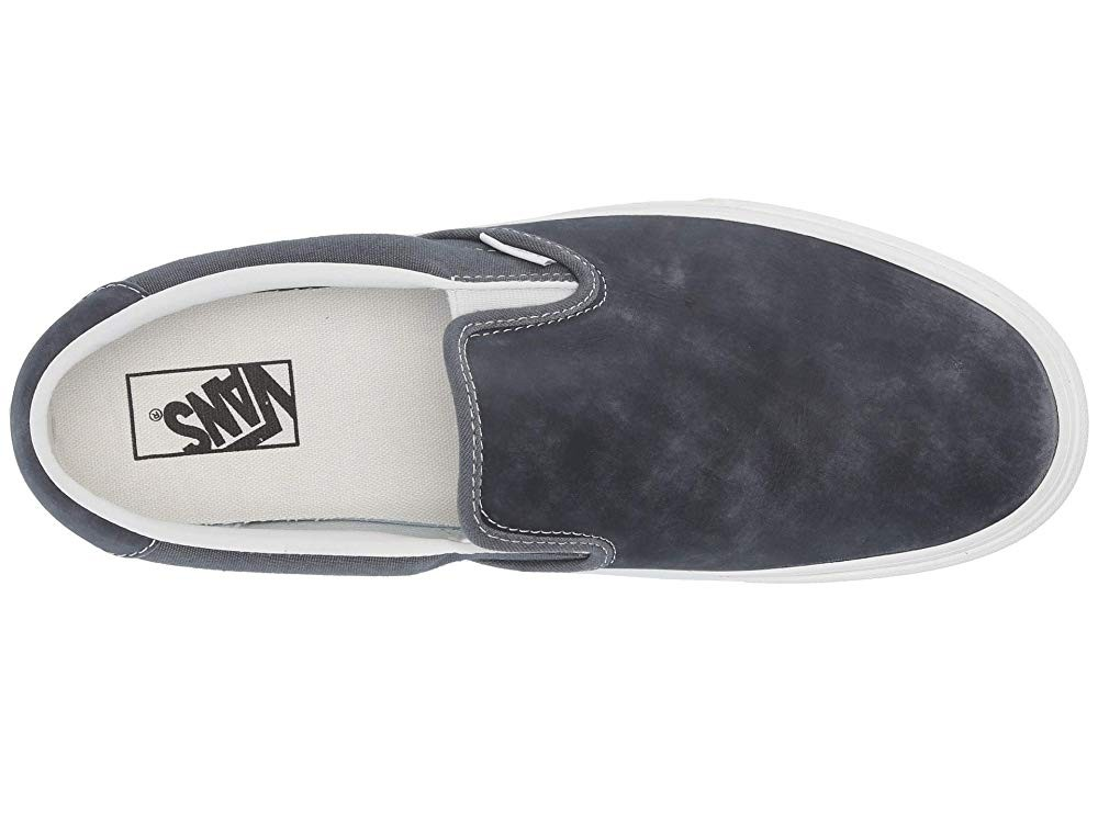 [ Hot Deals ] Vans Slip-On 59 (Washed Nubuck/Canvas) Ebony/Blanc