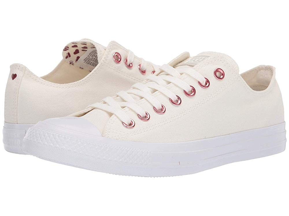 [ Black Friday 2019 ] Converse Chuck Taylor® All Star® Hearts Ox Egret/Thubarb/White