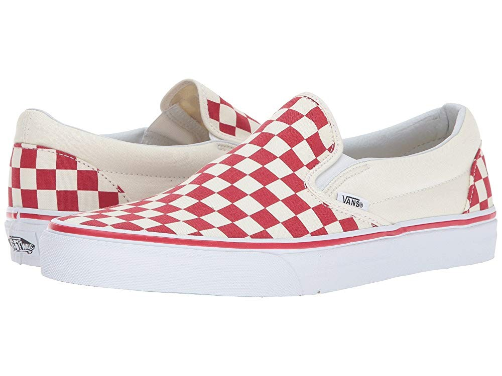 [ Hot Deals ] Vans Classic Slip-On™ (Primary Check) Racing Red/White