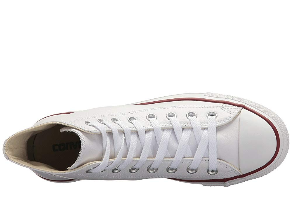 [ Hot Deals ] Converse Chuck Taylor® All Star® Leather Hi White Leather