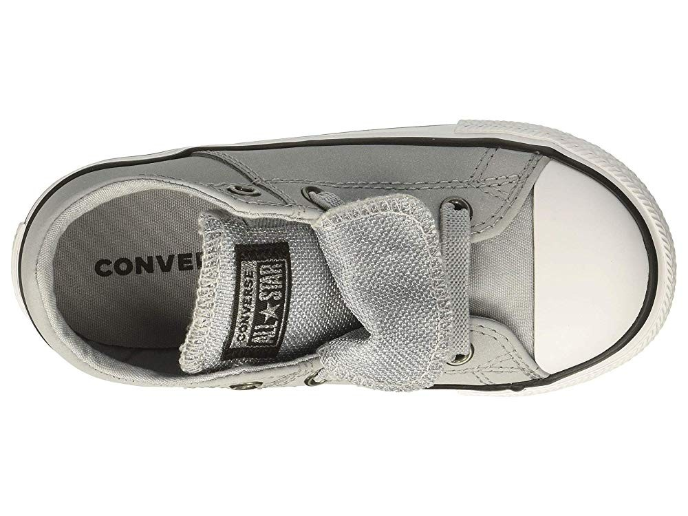 [ Black Friday 2019 ] Converse Kids Chuck Taylor All Star Maddie - Ox (Infant/Toddler) Wolf Grey/Black/White