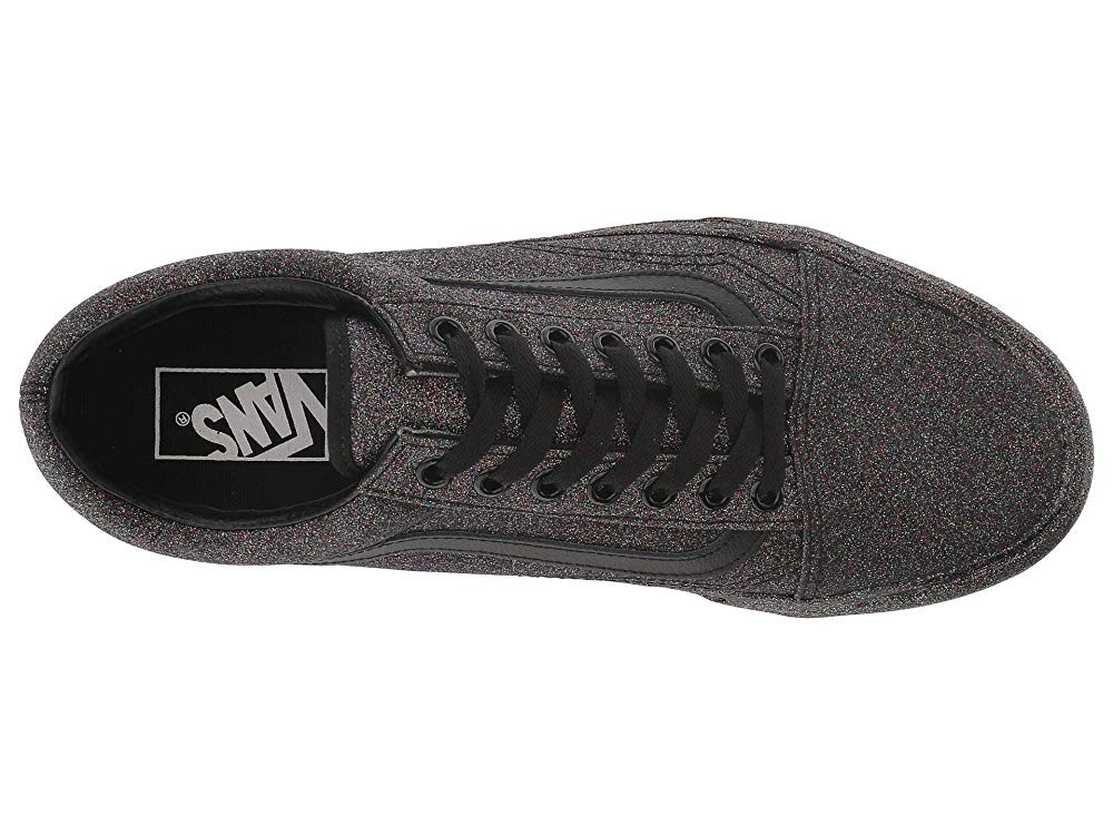[ Hot Deals ] Vans Old Skool™ (Rainbow Glitter) Black/Black