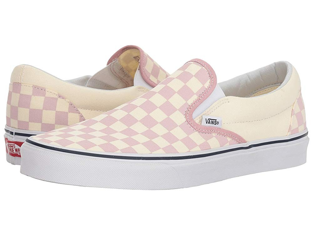 Christmas Deals 2019 - Vans Classic Slip-On™ (Checkerboard) Zephyr Pink/True White