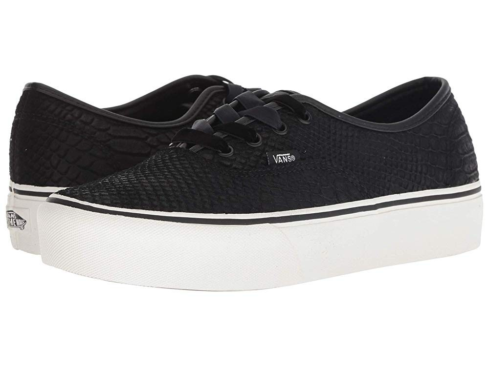 Vans Authentic Platform 2.0 (Leather) Snake/Black Black Friday Sale
