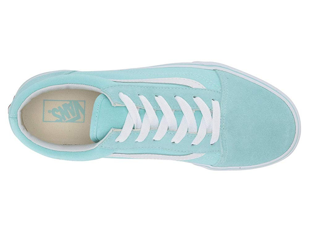 Vans Kids Old Skool (Little Kid/Big Kid) Blue Tint/True White Black Friday Sale