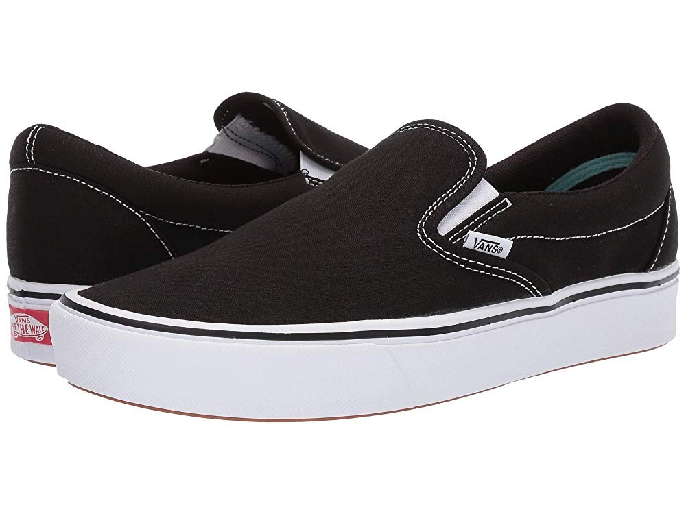 [ Hot Deals ] Vans ComfyCush Slip-On (Classic) Black/True White