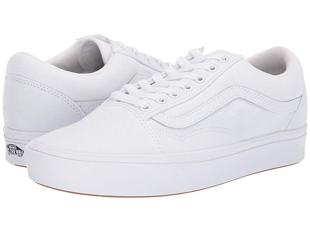 [ Hot Deals ] Vans Comfycush Old Skool (Classic) True White/True White