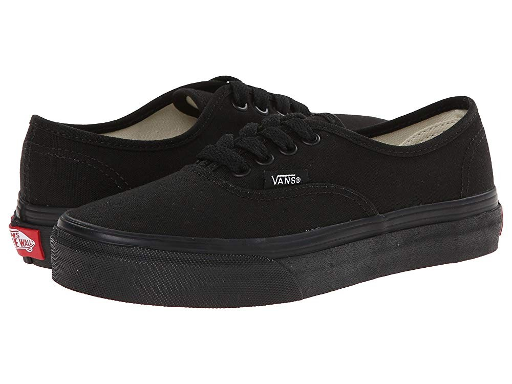 Christmas Deals 2019 - Vans Kids Authentic (Little Kid/Big Kid) Black/Black