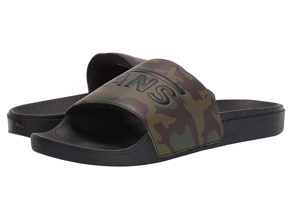 Buy Vans Slide-On (Camo) Black/Green