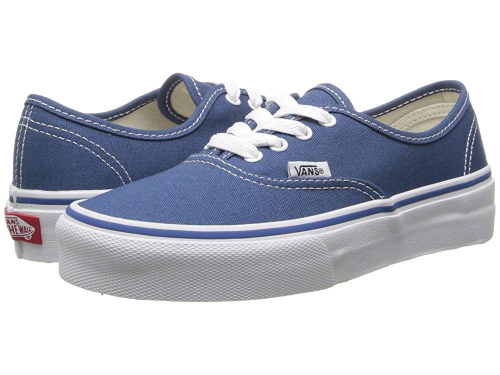 [ Hot Deals ] Vans Kids Authentic (Little Kid/Big Kid) Navy/True White