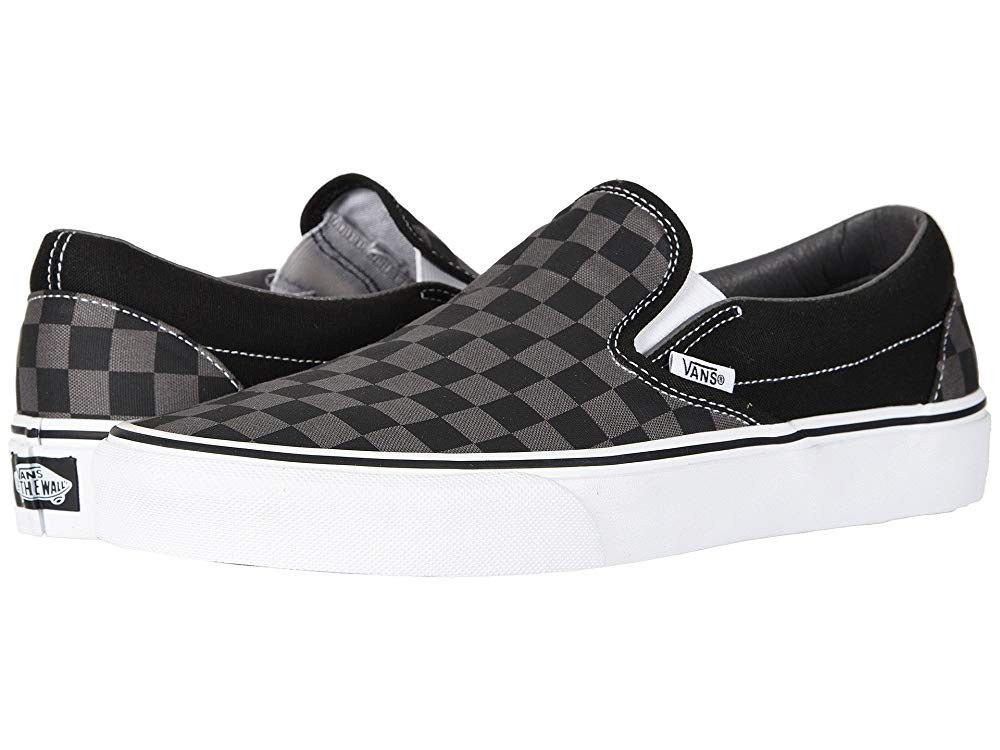 Vans Classic Slip-On™ Core Classics (Checkerboard) Black/Pewter