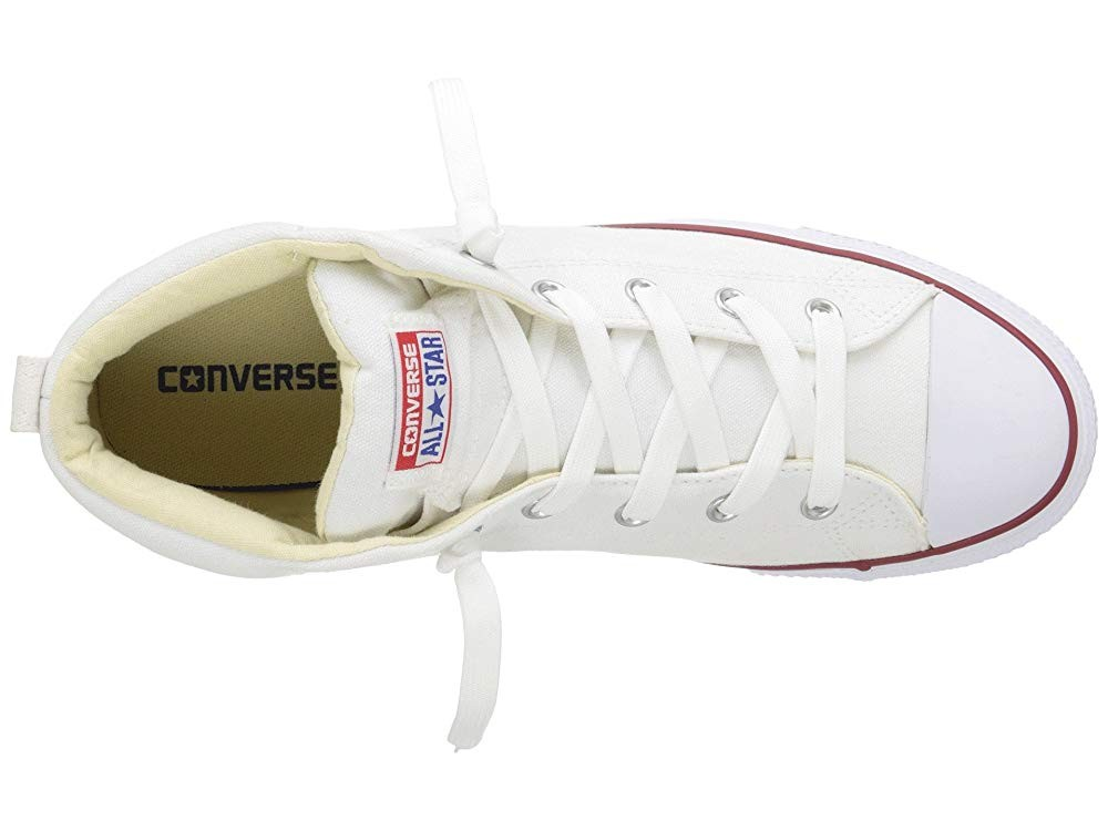 [ Hot Deals ] Converse Chuck Taylor® All Star® Street Core Canvas Mid White/Natural/White