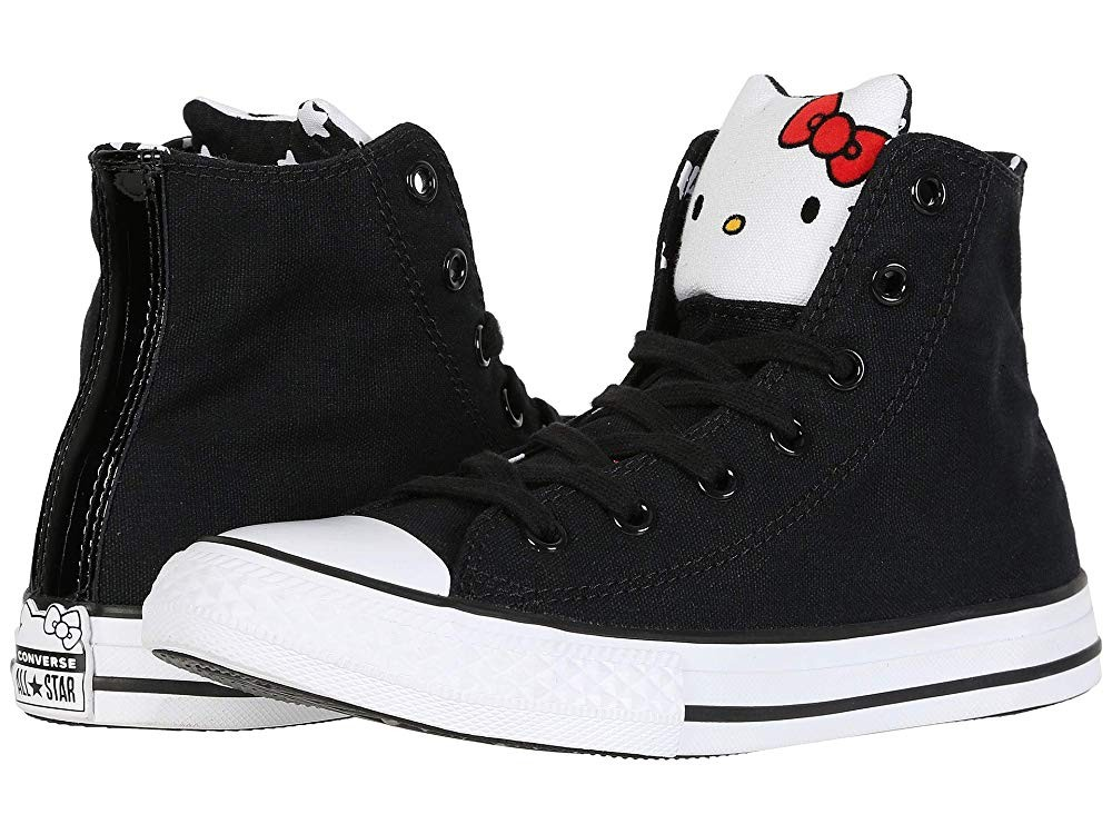 [ Black Friday 2019 ] Converse Kids Hello Kitty® Chuck Taylor® All Star® Hi (Little Kid) Black/Fiery Red/White
