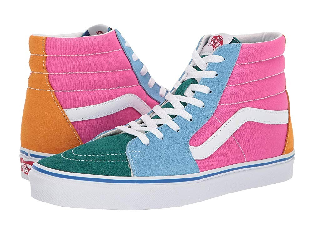 Vans SK8-Hi™ (Suede/Canvas) Bright Multi Black Friday Sale