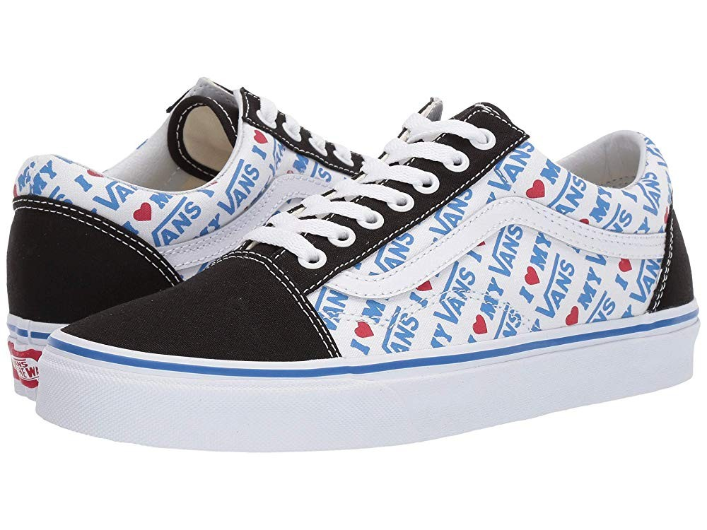 [ Hot Deals ] Vans Old Skool™ (I Heart Vans) Black/True White