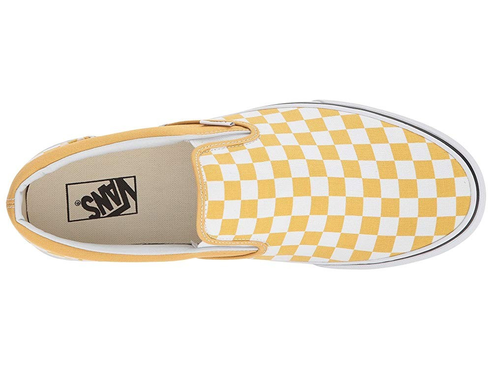 Vans Classic Slip-On™ (Checkerboard) Ochre/True White