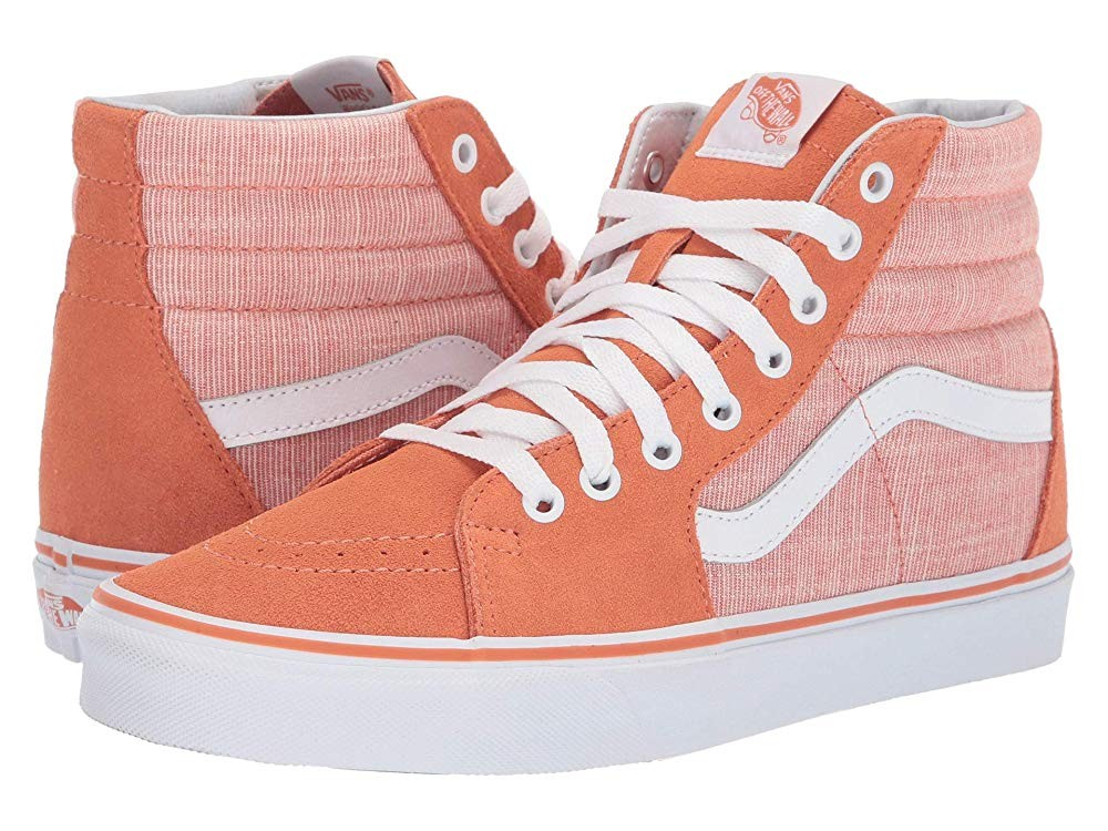 Vans SK8-Hi™ (Chambray) Carnelian/True White Black Friday Sale