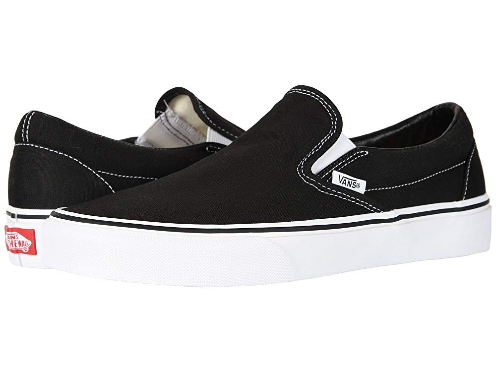 [ Hot Deals ] Vans Classic Slip-On™ Core Classics Black (Canvas)
