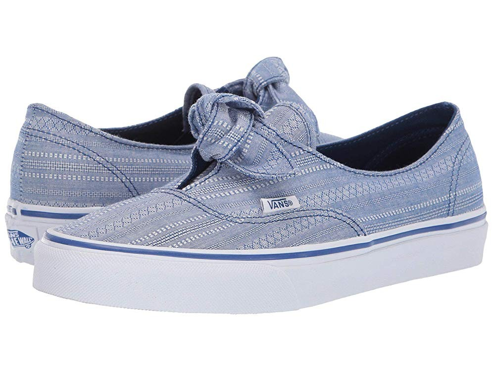 [ Hot Deals ] Vans Authentic Knotted (Lace Chambray) True Blue/True White