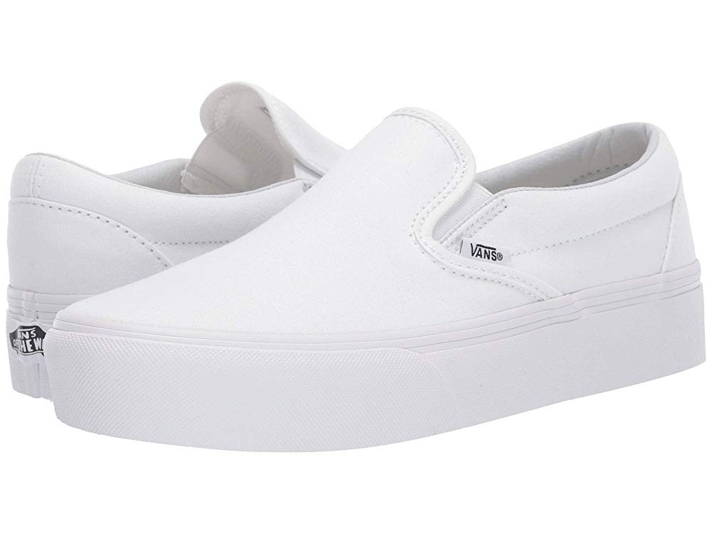 [ Black Friday 2019 ] Vans Classic Slip-On Platform True White