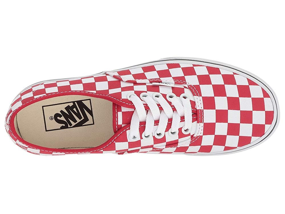 Vans Authentic Platform 2.0 (Checkerboard) Racing Red/True White Black Friday Sale